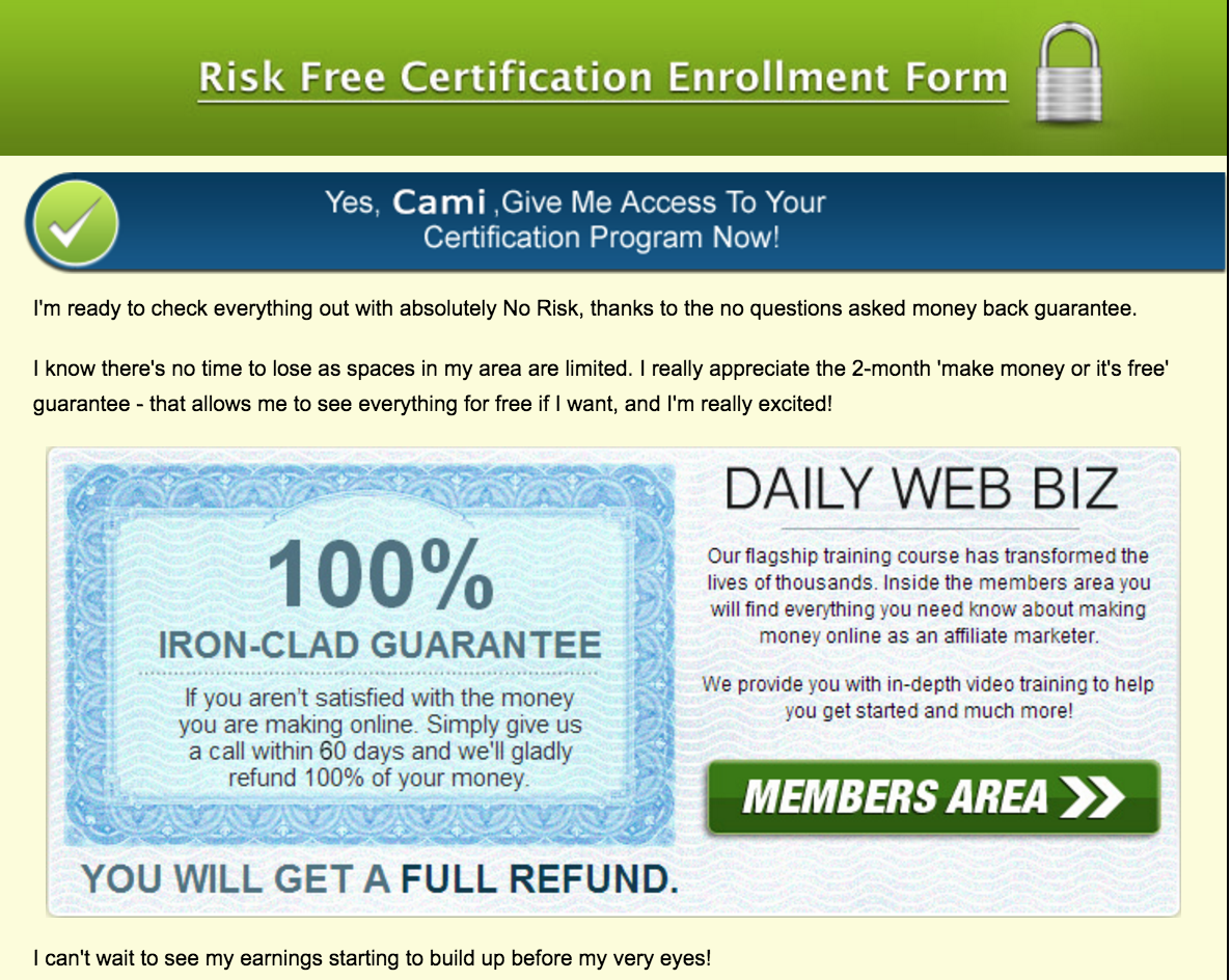 Daily web biz review a duplicate scam the opportunity scout their refund policy xflitez Images